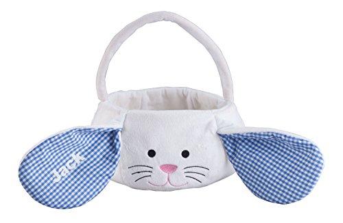 Personalized Blue Bunny Easter Basket (Bunny Easter Basket)
