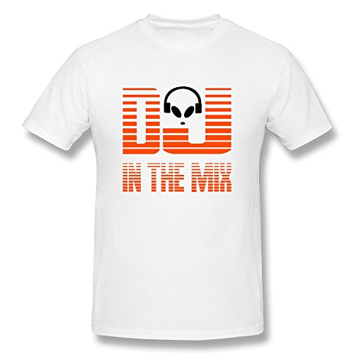 Men's DJ Mix Personalized Large O-Neck Tee Shirt By DINGDING