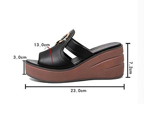 couleur pantoufles sandales de a de pantoufles l'intérieur plates mode des taille à pour la et sandales a sandales l'extérieur la antidérapantes pantoufles mode 36 Dames plage porter plates HgCqxwx