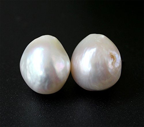 One Pair Ivory Big Special Natural Baroque Freshwater Pearl Earrings Christmas,Wedding,Happiness,Birthday Gift