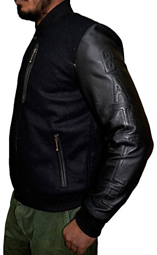 KOBE Destroyer XXIV Battle Micheal B Jordan Sheep Leather Sleeves Jacket,3XL by The Jasperz