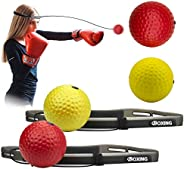 Yesland 6pcs Boxing Reflex Ball, on String Fight Ball Headband Suit for Reaction, Agility, Fight Skill and Han