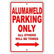 """Alumaweld Parking Only All Others Will Be Towed Boat Ship Yacht Marina Lake Dock Yawl Craftmanship Metal Aluminum 8""""x12"""" Sign Plate"""