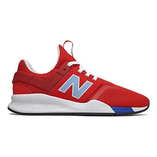 New Balance Men's 247v2 Sneaker, Team red/Summer Sky, 10 D US (Best Price Mens New Balance 846)