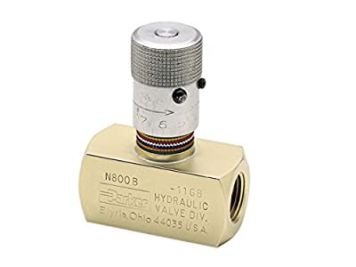 Parker N600S Needle Valve, Steel, 3/8-18, 8 GPM, 5000 Psi by Parker