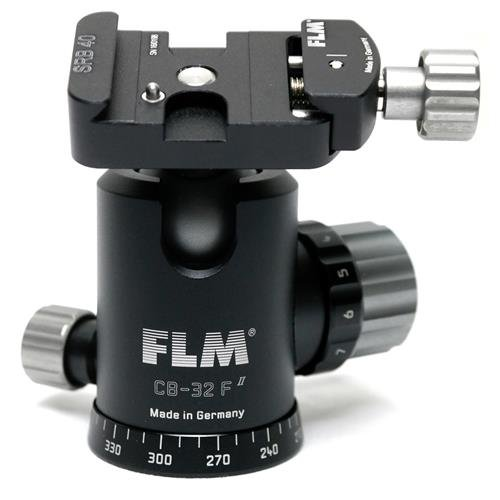 FLM CB-32 F Professional 32mm Ballhead with SRB-40 40mm Clamp Style Quick Release Base