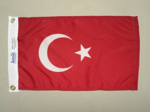 Turkey Indoor Outdoor Dyed Nylon Boat Flag Grommets 12