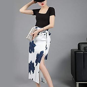 MIBKLPG Faldas para Mujer Verano Nueva Falda con Estampado ...