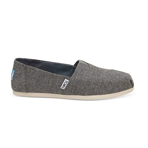 TOMS Women's Black Multi Speckle Chambray Classic 10009749 (Size: 10) (Black Tom Multi)