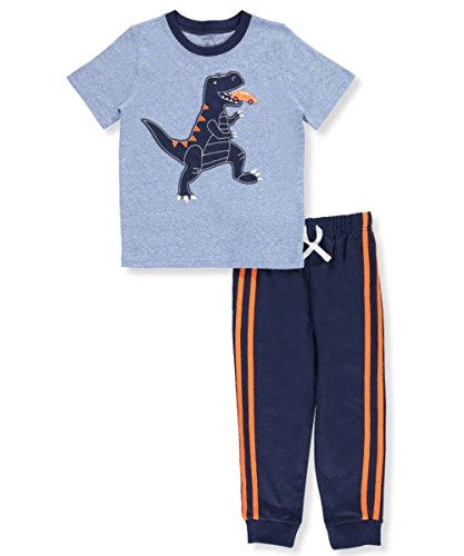 2 Piece Embroidered Tie - Carters Little Boys Toddler 2-Piece Outfit - blue, 4t