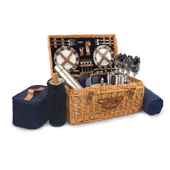 Windsor - English Style Willow Basket Navy ()