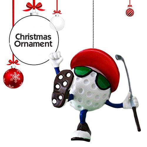 Be The Ball 4U Golf Decor Hanging Christmas Tree Ornament & Display Stand, You Da Man Figurine