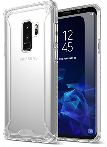 Galaxy S9 Plus Case, POETIC Affinity [Premium Thin] [Scratch Resistant Back] [Corner Protection] [Side Grip] Dual Material Protective Bumper Case for Samsung Galaxy S9 Plus Clear