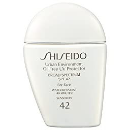 Shiseido Urban Environment Oil-free UV Protector SPF 42 Broad Spectrum for Face, 1 Ounce