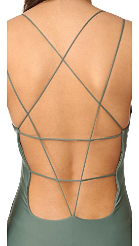 MIKOH Women's Kilauea Swimsuit, Army, Medium