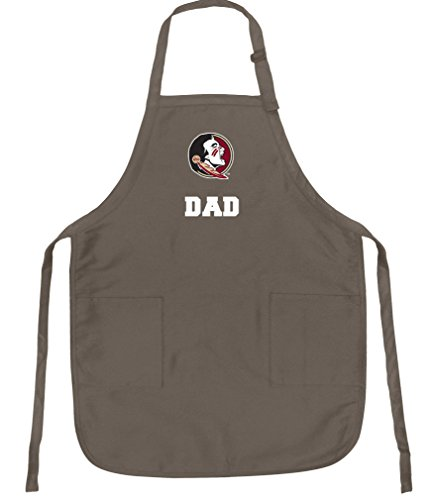 Broad Bay Florida State Dad Apron Best FSU Dad Logo Gift for Man - Apron Bbq Logo