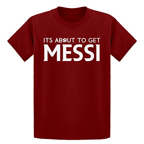 Youth Its About to Get Messi Youth M - (8-10) Red Kids T-Shirt