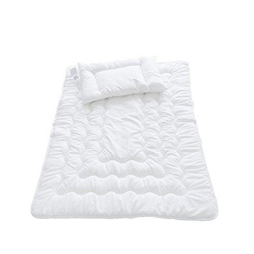 Callyna® - Set lit bébé Couette 135 x 100 spécial bébé et son oreiller. Anti allergique.