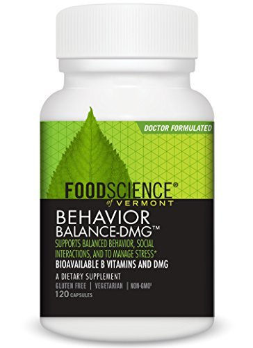 FoodScience of Vermont Behavior Balance-DMG Capsules, Behavior Support Supplement, 120 Count by FoodScience of Vermont