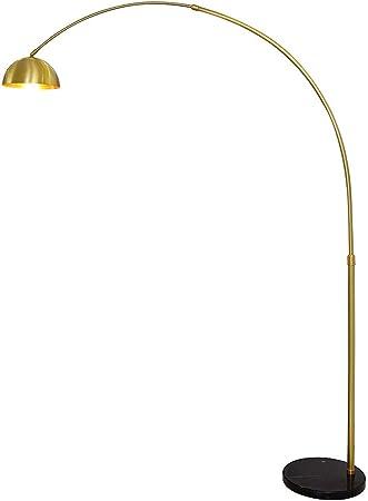 interrupteurs H.: 165cm verre mat//laiton trio-Lampes Lampadaire e27