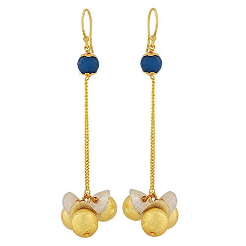 Maayra Cocktail Classic Earrings Blue Dangler Drop Party Jewellery by Maayra