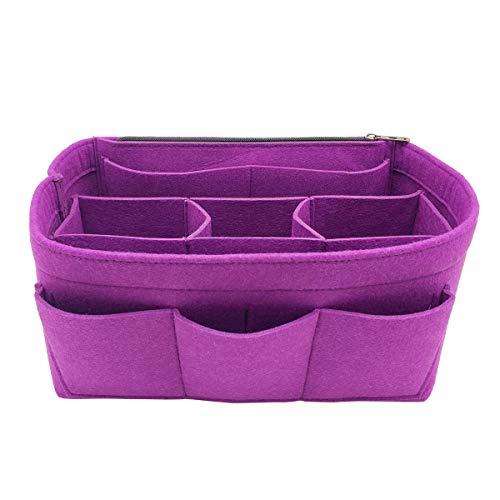 LEXSION Felt Handbag Organizer,Insert purse organizer Fits Speedy Neverfull 8001 Purple M - Easy Organizer