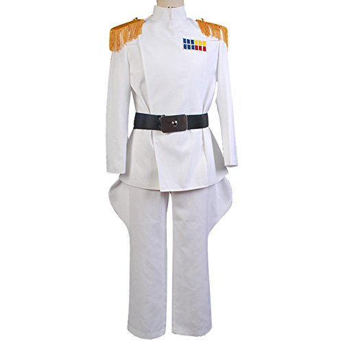 Cosplaysky Mens Halloween Costume White Uniform Outfit Jacket Pants Cosplay Large -