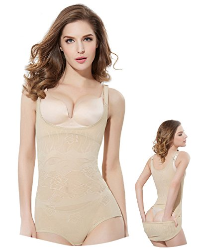 Ailaka Women's Sexy Slimmer Bodysuit, Full Body Briefer Seamless Lightweight Smooth Underbust Shapewear - Your Own Bra (Body Smoother)