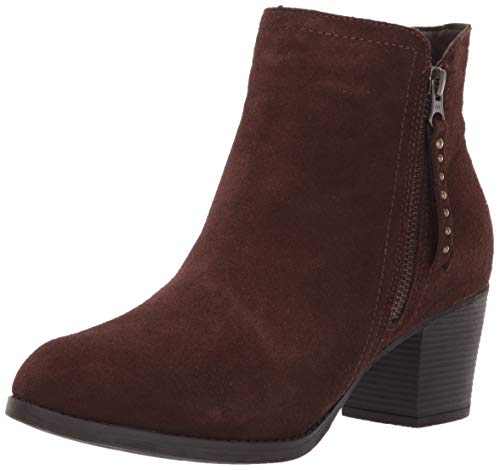 Skechers Women's Taxi-Short Gore and Zipper Bootie Ankle Boot, Chocolate, 9 M US Brown Suede Ankle Zipper Boots