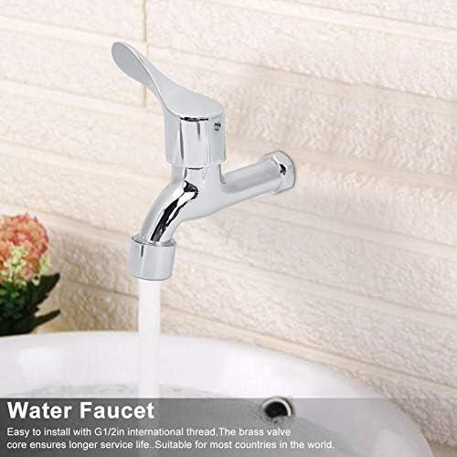 ホーム浴室キッチン水道水用亜鉛合金の水の蛇口の家庭用蛇口水タップ2インチG1 / (Color : Silver)
