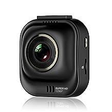 Papago Car Dash Camera GoSafe 535 Super HD Dash Cam 1296P Car DVR, Car Cam, Night Vision,Free 8GB Micro SD Card GS5358G, Black