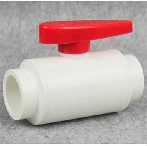 MOLIBAIHUO 1pc 20~63mm Hi-Quality UPVC Globe Valve Home Garden Water Pipe Connectors Agricultural Irrigation Aquarium Tank PVC Ball Valve,Dark Gray Valve (Size : Inner Dia 63mm)