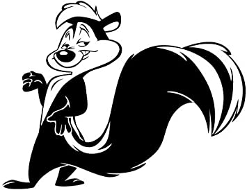 Amazon.com: WHITE PEPE LE PEW DECAL WINDOW NEW STICKER: Automotive