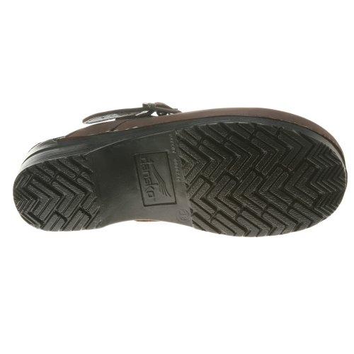 Dansko Élégant Ingrid Femmes Mules Et Sabots Chaussures, Chaussures Élégantes, Mode Antique Brun Huilé