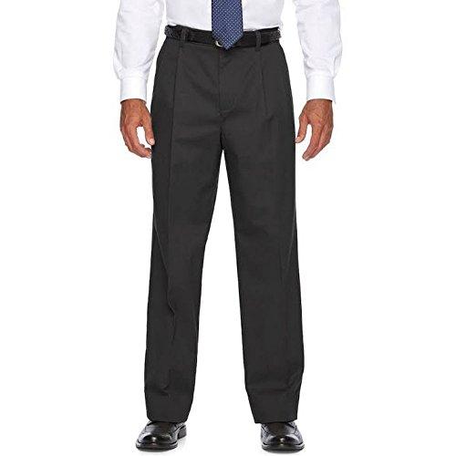 Croft & Barrow Men's Classic-Fit Performance Khaki Pleated Pants (Jet Black, W34 x -