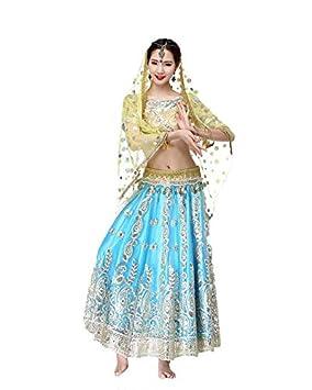 Huaishu Señoras de la Danza del Vientre Nueva India Sari ...