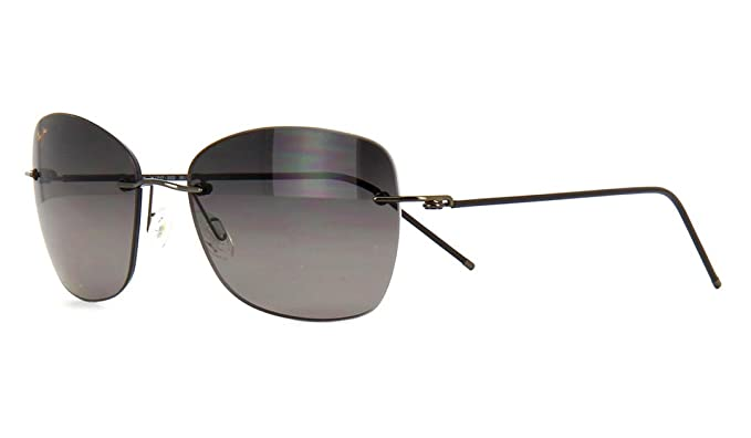 c37eca33f845 Image Unavailable. Image not available for. Colour: Maui Jim GS717-02D  MP-SG Gunmetal Apapane Square Sunglasses Polarised Lens Cate