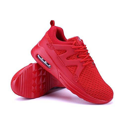 da Shoes Running Ragazza Sportive Fitness Cuscino da d'Aria Sneakers Scarpe Ragazzo da 35 Uomo Basket Gym 48 Corsa Unisex Scarpe Casual Donna Ginnastica Scarpe Basse Scarpe Rosso01 zvRWYxw