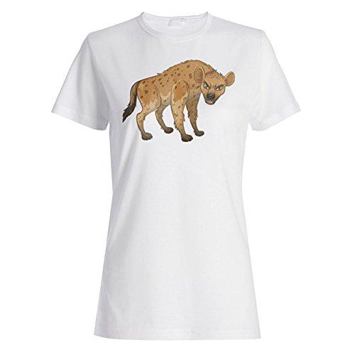 Hyäne Cartoon lustige Animation Damen T-shirt g778f