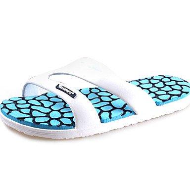Zapatos de hombre comodidad talón plano sandalias de PVC zapatos más colores disponibles Blue