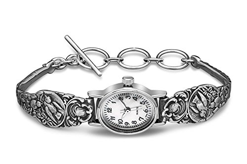 Silver Spoon Sterling Silver Patricia Ladies MOP Watch Unique (Silver Spoon Watch compare prices)