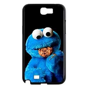 Samsung Galaxy N2 7100 Cell Phone Case Black Cookie Monster EYX 11D Hard Case