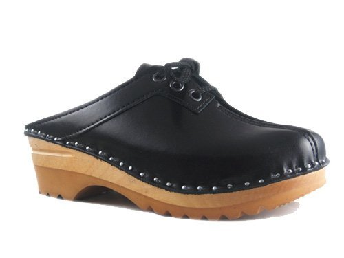 Tie Black 35 Clog Audubon Women's EU Leather Båstad Clogs Troentorp qFRtOwWXTq