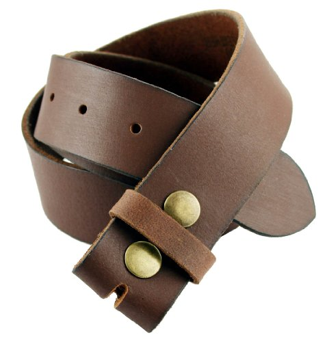 Natural Finish Solid One-Piece 100% Leather Thick Casual Jean Belt Strap (36)