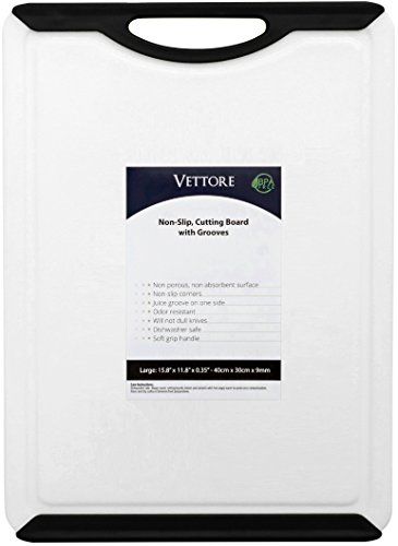 Vettore Large Non Slip Poly Cutting Board With Juice Groove