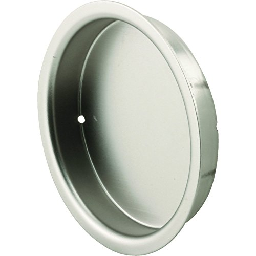 Prime-Line N 7209 Mortise Closet Door Pull, 5/16 in. Depth x 2-1/8 in. Outside Diameter, Stamped Steel, Satin Nickel Finish, Pack of 2
