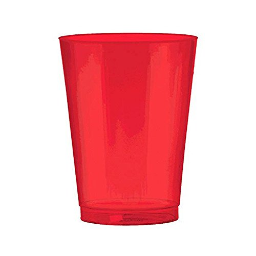 Red Holiday Cups 10 Ounce Shiny Red Plastic Cups. Pack Includes 50 High Quality Hard Plastic Red Party Cups. Perfect For Parties And Holidays. (Themed For Names Parties Christmas)