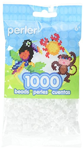 Perler Beads Fuse Beads for Crafts, 1000pcs, White Glitter -