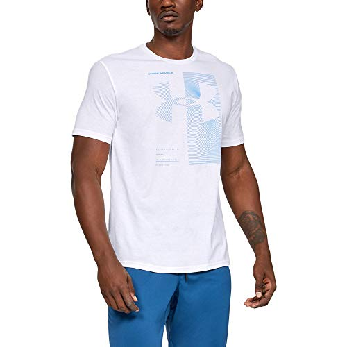 Under Armour Men's Two Tone Bl Short Sleeve Shirt, White//Heather Blue, XX-Large