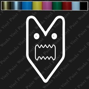 Dart Face Vinyl Decal Sticker - JDM Euro Car Bike Window